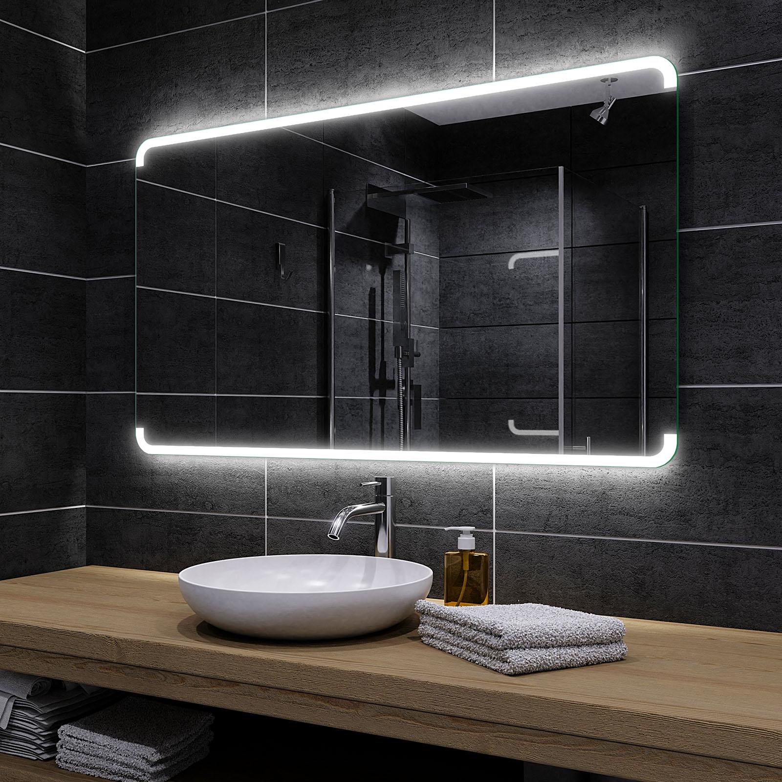 W/ählen Sie Zubeh/ör LED Farbe Kaltwei/ß Birma Alasta Badezimmerspiegel
